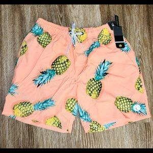 Ocean current pineapple twist Volley shorts NWT